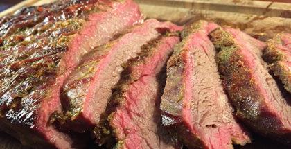 Flanke steak på grill
