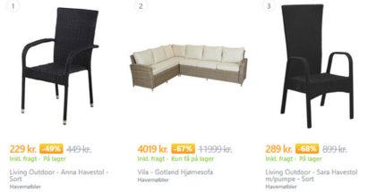 Køb billige havemøbler