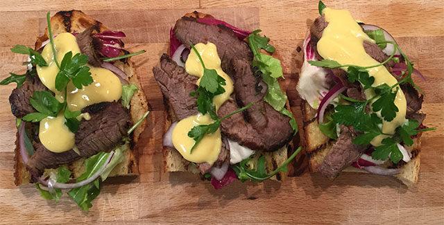 Open Steak Sandwich ala Grilltips.dk