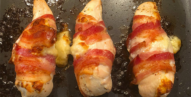 Kylling med ostefyld og bacon