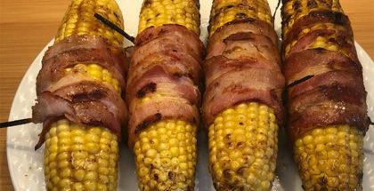 Grillet majs med bacon