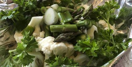 Grøntsager i grill