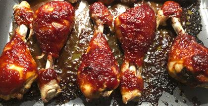 Kyllingelår med barbecue