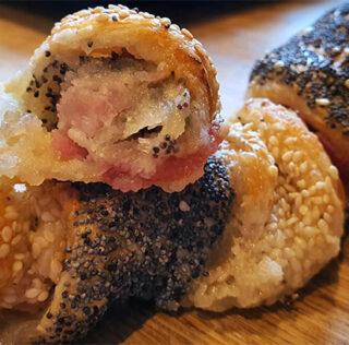 Frøsnappere med remonce og bacon
